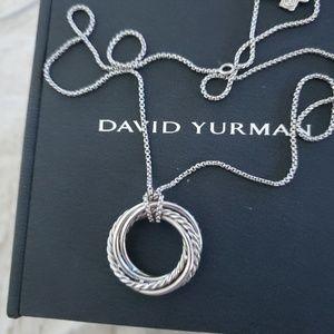 David Yurman Crossover Diamond Necklace